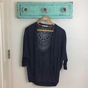 Jackets & Blazers - Navy Blue Kimono Cardigan